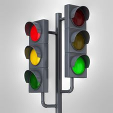 Free Traffic Lights Stock Photography - 17204642