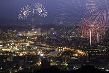 Free Fireworks Of Taipei City Stock Photography - 17204812