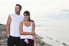 Free Happy Young Couple Have Fun At Beautiful Beach Stock Photos - 17205223