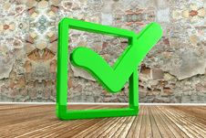 Free Green Check Mark Stock Photo - 17205280