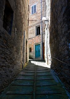 Alley In Urbino Stock Image