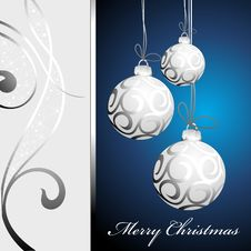 Free Christmas Background With Balls Stock Photography - 17205562