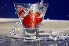 Strawberry Splash Royalty Free Stock Image