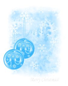 Icy Seasonal Greeting Card Stock Photo