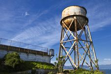 Free Alcatraz Water Tower Royalty Free Stock Photography - 17206307