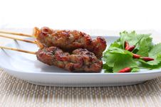 Free Thai Grilled Pork Royalty Free Stock Photos - 17206758