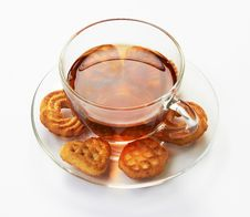 Free Cup Of Hot Tea With Cookies Royalty Free Stock Photography - 17207157
