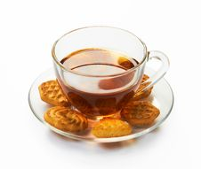 Free Cup Of Hot Tea With Cookies Stock Photos - 17207163
