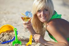 Free Girl At The Sunny Beach Stock Photo - 17207420