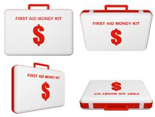 Free Set Of First Aid Money (dollar) Kit. Stock Image - 17207491