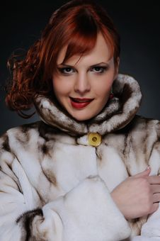 Free Woman With Fur Coat Royalty Free Stock Image - 17208626
