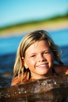 Free Happy Girl In The Water Royalty Free Stock Photos - 17208648