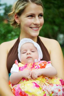 Free Mother With Baby Girl Royalty Free Stock Image - 17208816