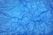 Free Crumple Blue Paper Stock Photography - 17208842