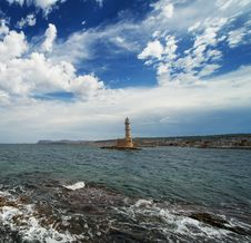 Free Beautiful Lighthouse Over  Cloudy Sky Stock Image - 17209321