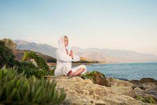 Beautiful Woman Doing Yoga Exercise Stock Photos