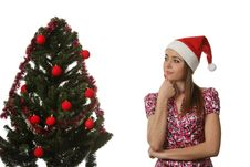 Free Woman Decorate A Christmas Tree Stock Photos - 17209983