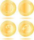 Free Golden Coins Set Royalty Free Stock Images - 17210689