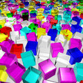 Free A Lot Of Color Glass Cubes Royalty Free Stock Photography - 17211017