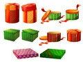 Free Isolated Editable Christmas Vector Box Set Royalty Free Stock Photo - 17211305