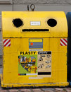 Free Yellow Trash On The Streets Of Prague Stock Photos - 17218423