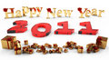 Free 2011 New Year With Gifts Royalty Free Stock Photos - 17219668