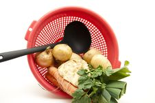 Free Soup Vegetables With Ladle Stock Photo - 17210490