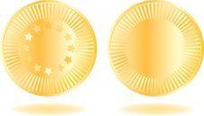 Free Golden Coins Set Royalty Free Stock Photos - 17210688