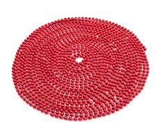 Bright Red Bead Christmas Garland Royalty Free Stock Photos