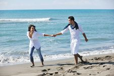 Free Happy Young Couple Have Fun At Beautiful Beach Royalty Free Stock Photography - 17210897