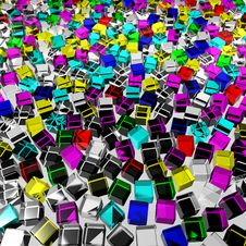 Free Color Glass Cubes Stock Photo - 17210990
