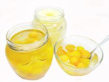 Free Jar Of Papaya In Syrup Royalty Free Stock Image - 17211146