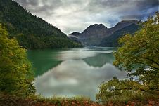 Lake Ritsa Caucasus Royalty Free Stock Photography