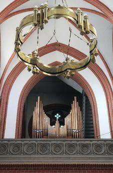 Free Church Organ, Lamp Stock Photography - 17211882