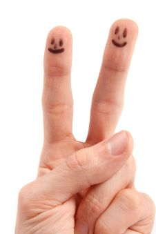 Free Hand With Smileys On Fingertips Stock Photos - 17211963