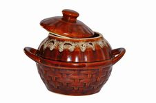 Free Clay Rural Pot For Cooking Royalty Free Stock Photography - 17211987