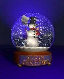 Free Snow_globe_snowman Stock Image - 17212121