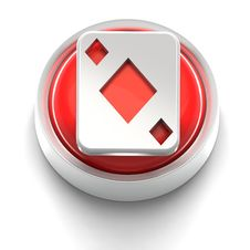 Free Button Icon: Ace Of Diamonds Royalty Free Stock Photos - 17212228