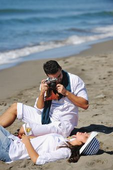 Free Happy Young Couple Have Fun At Beautiful Beach Stock Photo - 17212360