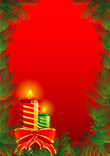 Free Christmas Candles Royalty Free Stock Photo - 17212455