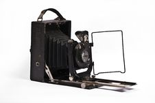 Free Old Camera On A Plain White Stock Images - 17212664