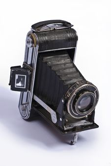 Free Old Camera On A Plain White Stock Images - 17212674