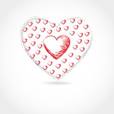 Free Valentine Card. Hand Drawn Vector Royalty Free Stock Photo - 17212865