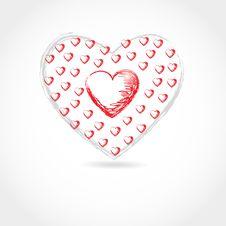 Valentine Card. Hand Drawn Vector Royalty Free Stock Photo