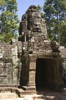 Free Preah Khan Wall Royalty Free Stock Photos - 17213478