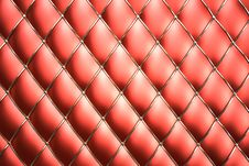Red Genuine Leather Pattern Background Royalty Free Stock Photo