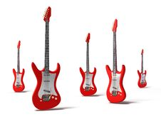 Red Electric Guitars Concept Background Royalty Free Stock Photos