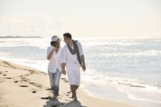Free Happy Young Couple Have Fun At Beautiful Beach Royalty Free Stock Images - 17213829