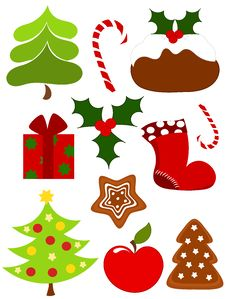 Free Christmas Icons Royalty Free Stock Photos - 17214238