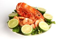 Free Shrimp Background Royalty Free Stock Photos - 17215108